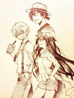 Oz, Gil & Alice in modern clothes