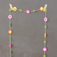 Make this Super Easy Garland in less than 15 minutes! Can be customized to match any occasion.