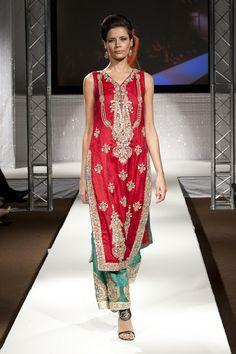 Pakistan Fashion Week 2011 London ~ Burooj Couture by Rana Noman Finale Show - Asian Wedding Ideas Fashion Week Uk, Pakistan Fashion Week, Long Kurtas, Indian Fashion, Beautiful Dresses, Party Dress, Sari, Asian, London