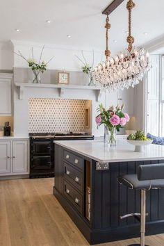 Beaded Shaker Kitchen Cheltenham Benchwood - Gifts For Love Kitchen Mantle, Home Decor Kitchen, Interior Design Kitchen, Kitchen Living, Country Kitchen, New Kitchen, Kitchen Cabinets, Kitchen Cupboard, Kitchen Island Sockets