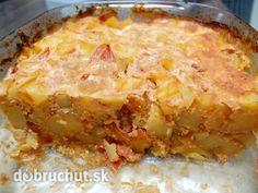Fotorecept: Diabolské zapekané zemiaky s rajčinami -   Na olivovom oleji speníme cibuľku a pridáme 2 KL kari korenia. Chvíľku ešte...
