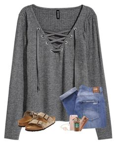 """face masks @ 1am"" by kendallthackston on Polyvore featuring H&M, Nobody Denim, Birkenstock and Urban Decay"