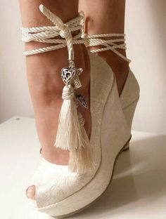 Check out this item in my Etsy shop https://www.etsy.com/listing/464946873/ivory-lace-wedding-wedges-wedges-with