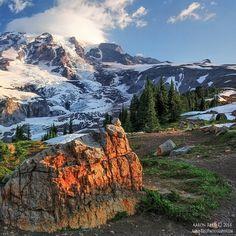 Sunrise in Rainier National Park, Washington | #world #travel #places #sunrise #Rainier #Washington