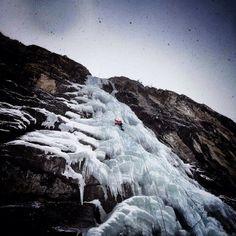 ice climbing in Cogne. Photo: Matthias Scherer via Arc'teryx