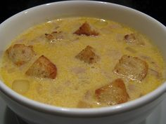 Cheddar Cheese & Beer Soup~ recipe from the Ahwahnee Hotel, Yosemite