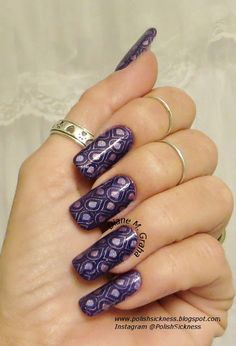 Color Club Halo Hues Eternal Beauty, Mundo de Unas Violet, Uber Chic UC 5-02 stamp Who knew nails could be so much fun! Love this pattern and color! Uber Chic Beauty Stamps are really great and super easy to do! Great for spring prom and all the special occasions! Gotta love nail art!