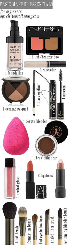 Basic Makeup Essentials for Beginners - Citizens of Beauty. Discover more by going to the photo