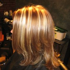 Golden blonde highlights.