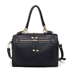 Black Urban Expressions Mattie Handbag 10341 Vegan Bag