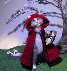 LITTLE RED RIDING HOOD ~ Fairytale Cat ~ New By Cindi Cannon