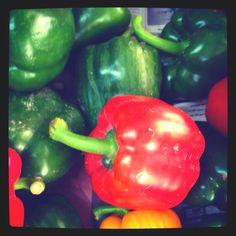 Red bell pepper in the market