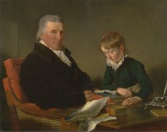 Ramsay Richard Reinagle, 1775–1862, British, Francis Noel Clarke Mundy and His Grandson, William Mundy, 1809, Oil on canvas, Yale Center for British Art, Paul Mellon Collection