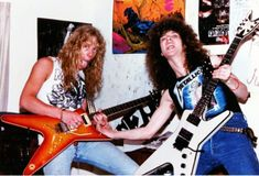 James Hetfield (Metallica) and Dimebag Darrell (Pantera, Sebastian Bach band, Antrax,.), very youngs! Music Pics, Music Photo, Music Love, Music Is Life, Rock Music, Music Stuff, Dimebag Darrell, Metallica, Metal Bands