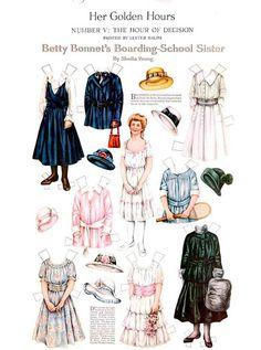 muñecas recortables victorianas