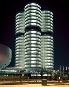 Photographed by Ian Allen  The OMV Borealis Refinery on the German/Austrian Frontier and the BMW Headquarters in Munich.