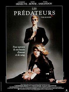 L'affiche du film Les Prédateurs, de Tony Scott, avec Catherine Deneuve. - T.C.D. / VISUAL Press Agency