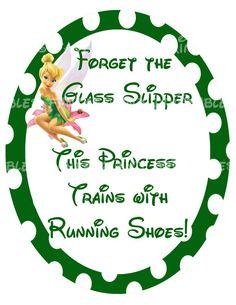 Tinkerbell Half Marathon Disney Running by FantasylandPrintable, $4.00