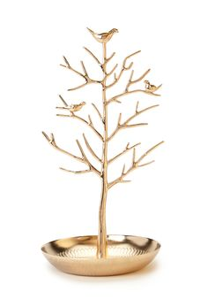 Perched Bird Jewelry Stand | FOREVER21 #Accessories #Jewelry #golden  Had to pin this gorgeous jewelry stand photo !! Just too cute !