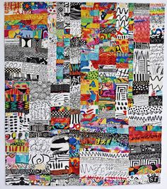 Strip Quilts, Scrappy Quilts, Crumb Quilt, Quilting Projects, Art Quilting, Modern Quilting, Modern Quilt Blocks, Black And White Quilts, Japanese Quilts
