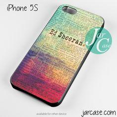 ed sheeran quotes Phone case for iPhone 4/4s/5/5c/5s/6/6 plus