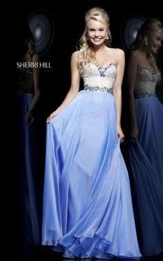 Blue Sherri Hill 1923 Sequins Prom Dress 2015 Long