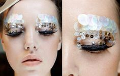 Maquiagem com lantejoulas para Carnaval