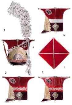 Chapska dei lancieri polacchi del 1 rgt. della guardia imperiale francese