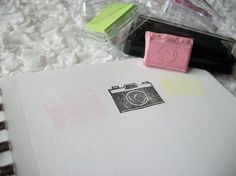 Capture the Moment Cute Camera Cute Camera, Handmade Stamps, Cameras, Hand Carved, Stencils, Arts And Crafts, Carving, In This Moment, Stickers