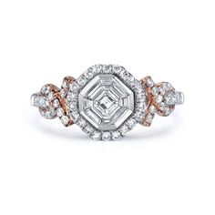 One of my top 3 settings.  Love the sideways asscher. :) 1 It's my ring on the side!