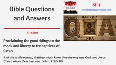 Bible Questions and Answers is an easy way to learn Bible truths. They will change your life – now and for eternity. Get started! Bible Questions And Answers, Question And Answer, This Or That Questions, Know Thyself, Bible Truth, Passionate People, Knowing God, Satan, Gods Love