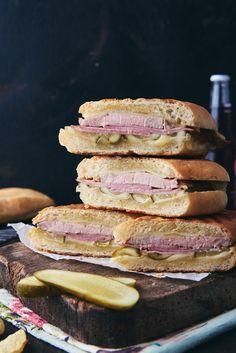 Sandwich Platter, Cuban Sandwich, Cuban Bread, Party Sandwiches, Yummy Treats, Tasty, Fish, Recipes, Pisces