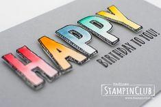 StampinClub, Stampin' Up, Feierstimmung, Happy Celebrations, Aquapainter