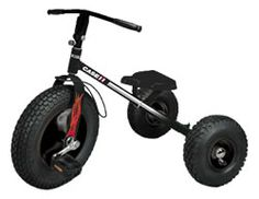 Case Mighty Trike: It's all about the big rubber tires, thick tread and steel frame! ages 3 and up. $150.36.