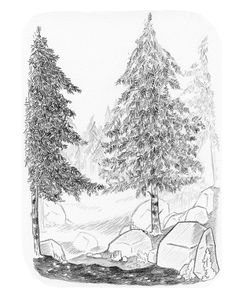 Imagined landscapes drawn in pencil. Landscape Pencil Drawings, Graphite, Building A House, Illustrator, Buildings, Landscapes, Doodles, Sketches, Behance