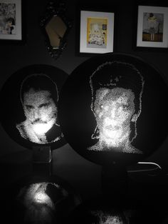 Arte em Vinil(LP)Fred Mercury e David Bowie