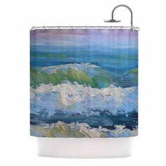 "Carol Schiff ""The Pastel Sea"" Purple Blue Shower Curtain - KESS InHouse"