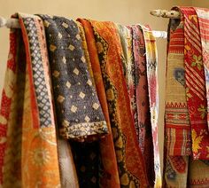 Kantha Throws made from vintage saris.