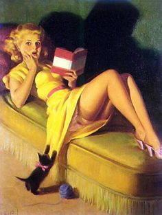 Scary Story Halloween pin-up girl