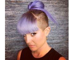 not my fav celebrity but my new fav hair: undercut into a cool bun