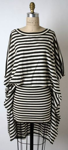 Issey Miyake dress circa 1985 ... I would SO wear this dress right now with some tights. Issey, Issey ... do it again please!