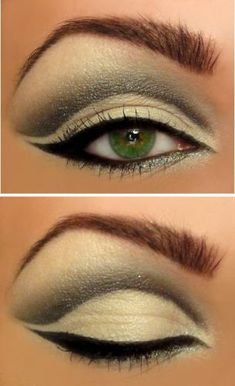 Cool eye makeup