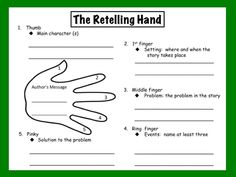 Reading Graphic Organizer for Retelling a Story Comprehension Strategies, Reading Strategies, Story Retell, Character And Setting, Common Core Reading, Teaching Reading, Guided Reading, Reading Lessons, Rhyming Words