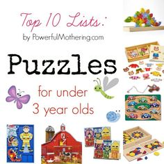 Top 10 Lists Puzzles for under 3 year olds Infant Activities, Activities For Kids, Crafts For Kids, Board Games For Kids, Kids Board, Toddler Gifts, Toddler Toys, Baby Toys, Life Skills For Children