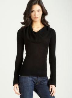 EVELYN CASHMERE D4-long slv jersey cowl neck