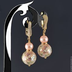 Beading Jewelry, Diy Jewellery, Jewelry Crafts, Bridesmaid Flip Flops, Hair Salon Interior, Shoulder Jewelry, Murano Glass, Beaded Earrings, Claire