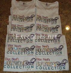 Executees Custom Business Logo T-Shirts in Swarovski Crystals.  http://executees.net/ rhinestone t-shirts