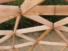 Wood frame dome construction packages, for residential, recreational, commercial and retail applications. Build a strong efficient geodesic dome by Dome Inc