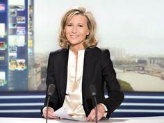Claire Chazal aux commandes du JT du week-end sur TF1