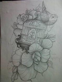 Bird Cage Tattoo Idea by baybay9623 on deviantART  i want something like this